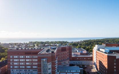 Flygbild över Kalmar sjukhus